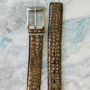 Torino South American Crocodile Leather Mens Belt